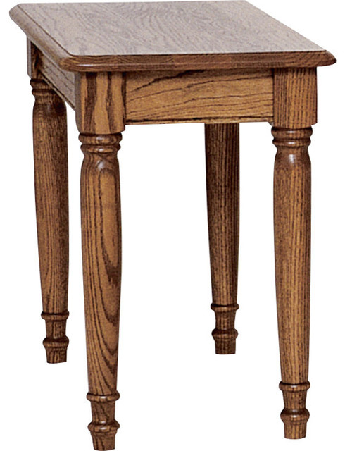 Country Solid Oak Farmhouse Chair Side Table Traditional Side Tables And End Tables By The