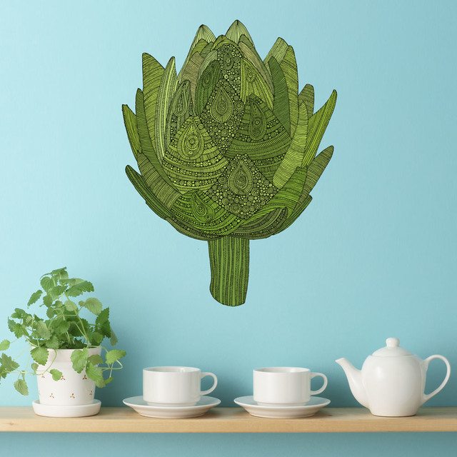 Artichoke wall sticker decal eat your veggies by for Artichoke decoration