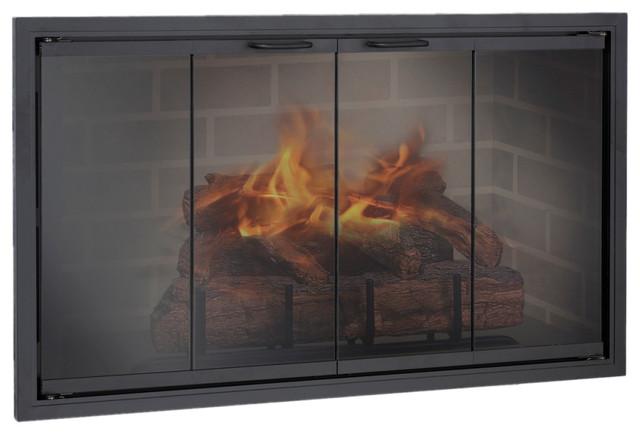 Stiletto Aluminum Zero Clearance Fireplace Glass Door Custom Product