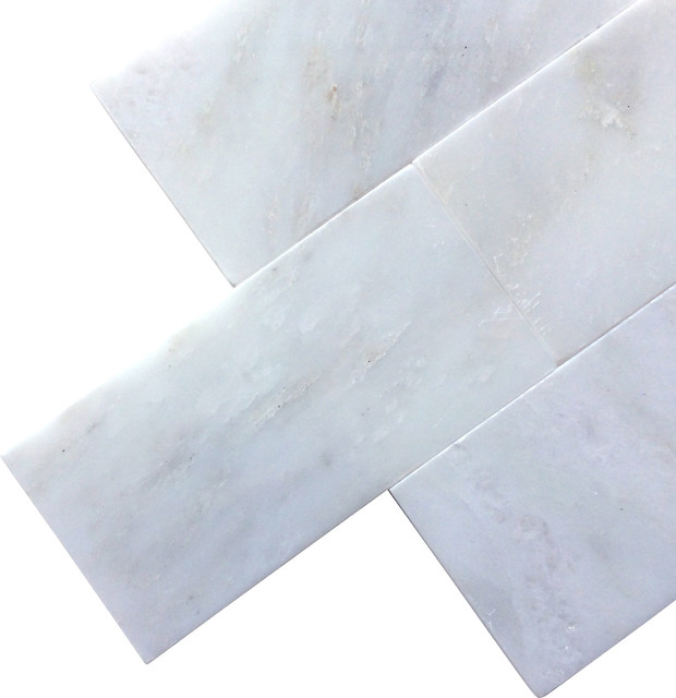 Arabescato Carrara Marble : Arabescato carrara polished marble subway tile