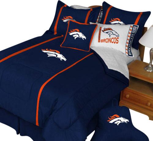 Nfl denver broncos twin comforter pillow sham mvp bed set for Denver broncos bedroom ideas