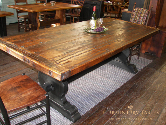 Tables Reclaimed Barn Wood Farm Tables Dining Tables  : dining tables from www.houzz.com size 640 x 480 jpeg 143kB