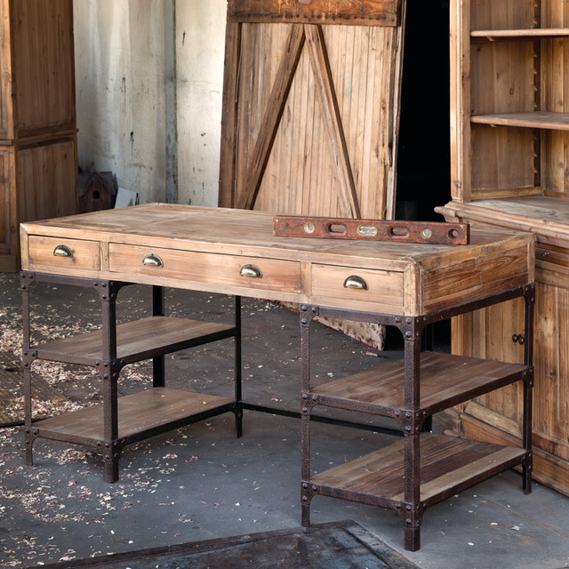 ... Pine Desk - Eclectic - Desks And Hutches - atlanta - by Iron Accents