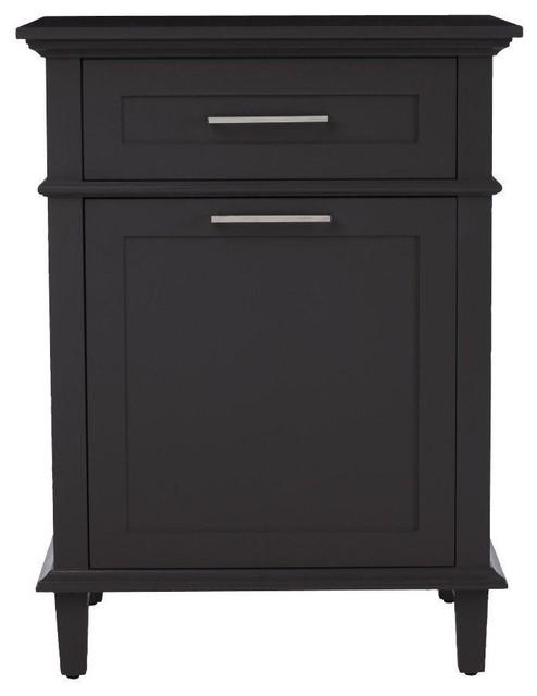 Hampers sonoma 26 in w hamper in dark charcoal contemporary laundry