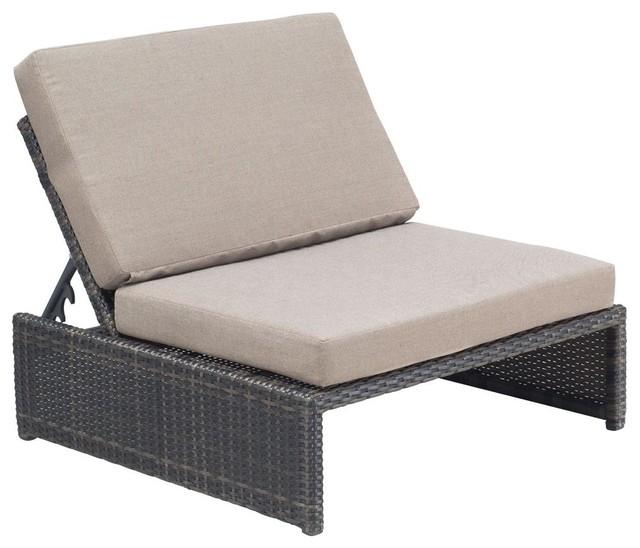 Reclining Chair in Espresso Contemporary Outdoor