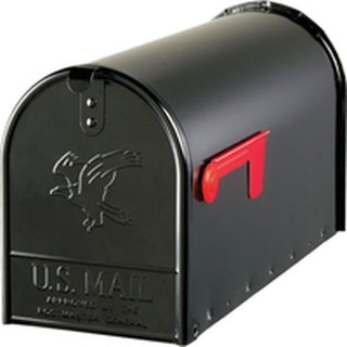 Mailbox Heavy Duty Post Mount Black Large Transitional