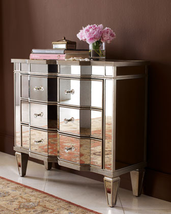 Mirrored Nightstand | Borghese Collection | Z Gallerie
