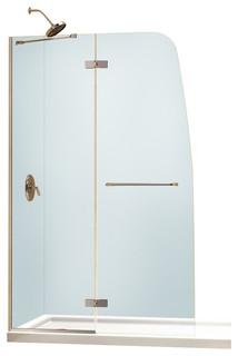 Aqua Ultra Frameless Hinged Shower Door & Slim Line Single ...