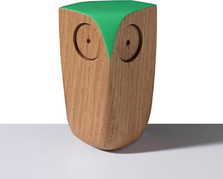 Hoot Wood Owls Oak Green Modern Home Decor By