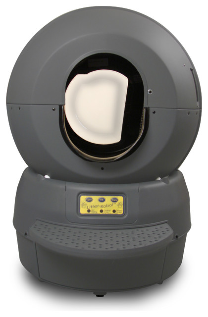Litter-Robot Self-Cleaning Litter Box, Gray Bubble - Contemporary - Litter Boxes And Covers - by ...