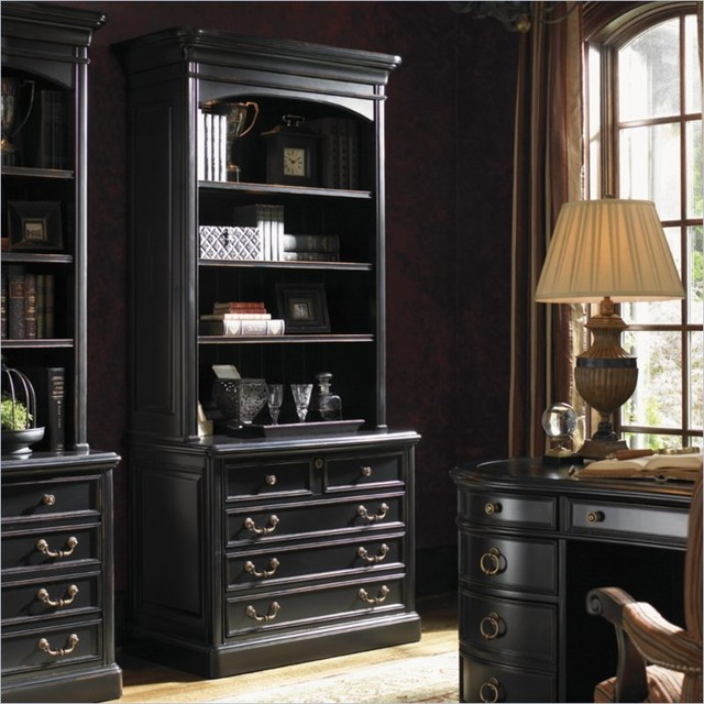 Sligh Breckenridge Keystone 2 Drawer File Cabinet and Hutch Set in in Weathered - Traditional ...