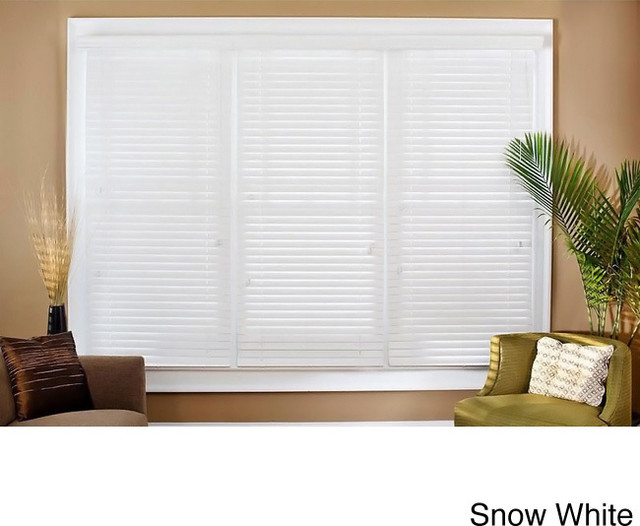 Faux Wood 52 Inch Blinds Contemporary Window Blinds By