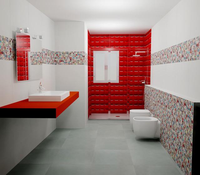 Andy warhol by dune pop art bathroom modern bathroom for Salle de bain pop