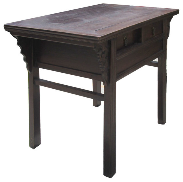 Chinese Antique Dragon Carving Altar Table Vanity Cabinet