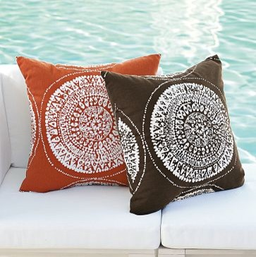 Eclectic Mix Of Pillows : Sundial Outdoor Pillow west elm - Eclectic - Outdoor Cushions And Pillows - by West Elm