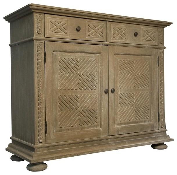 NOIR Furniture Maya Chest in Weathered GDRE135WEA