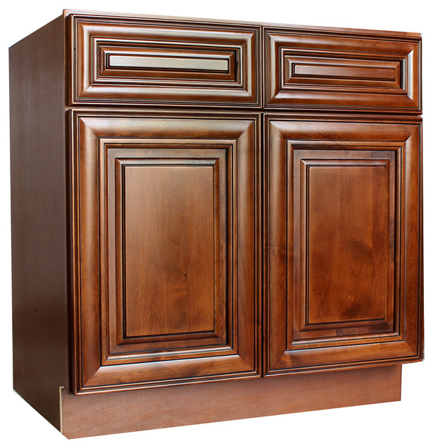 "42"" Sink Base Cabinets, Chocolate Glaze traditional-kitchen-cabinetry"