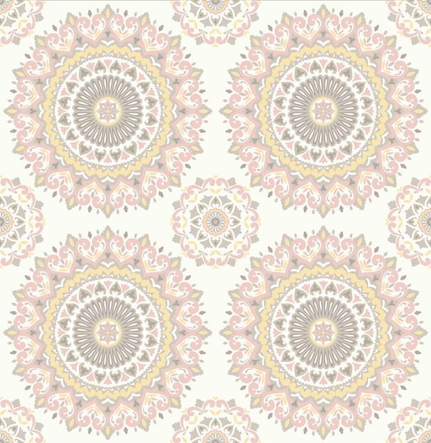 gemma light pink boho medallion wallpaper bolt