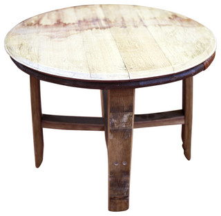 Wine Barrel Vinci Table Rustic Outdoor Dining Tables By Eco Wine