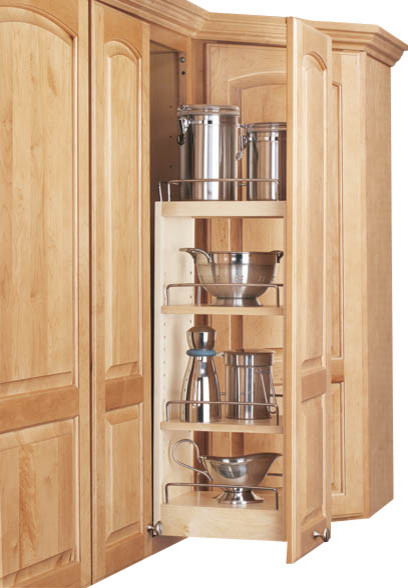 "Rev-A-Shelf 5"" Wall Cabinet Pullout Organizer With Adjustable Shelves - Contemporary - Pantry ..."