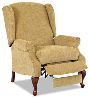 Klaussner annie kelp high leg recliner moderne for Chambre bebe denver