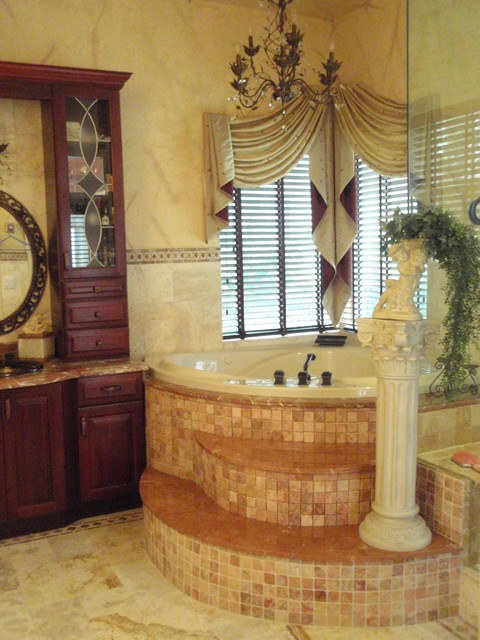 Traditional style window treatments and home decor