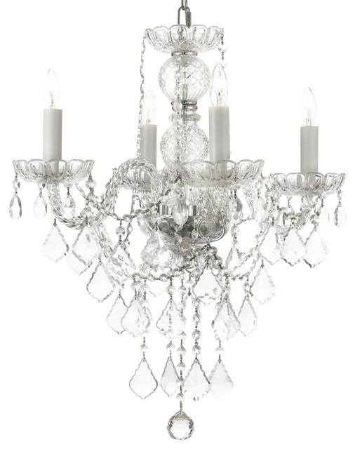 Swarovski Crystal Trimmed New Authentic All Crystal Chandelier Traditional Chandeliers By