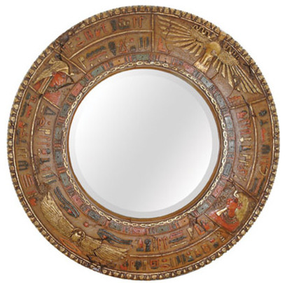 Egyptian mirror 3 7 ft diameter wall mirrors dallas for 7 foot mirror