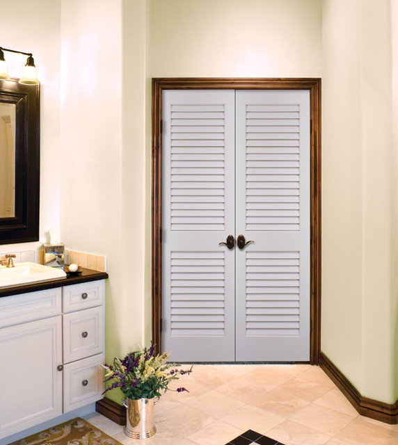 Plantation louvered authentic wood doors interior doors sacramento by homestory of sacramento - Plantation louvered closet doors ...