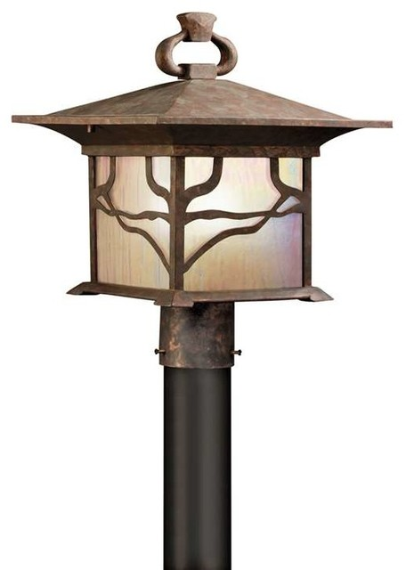 Kichler Lighting 9920DCO Morris Arts And Crafts Mission Outdoor Post Lantern