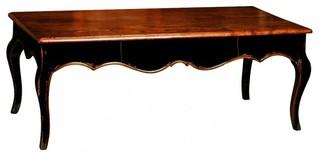 Table basse voltaire de style r gence 120x60 avec 1 for Table exterieur 120x60