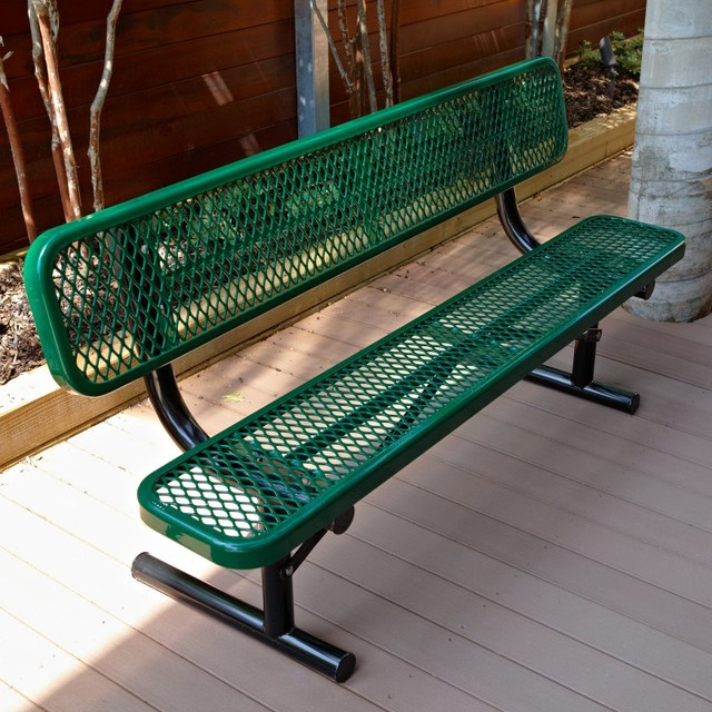 Ultra Play Commercial Bench With Back 6 Ft Pbk940p