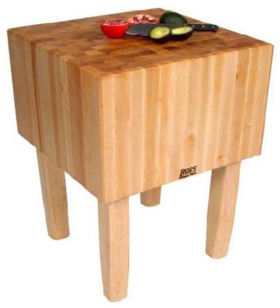 Butcher Block Kitchen Prep Table : BoosBlock AA Professional Prep Table with Butcher Block Top - Modern - Kitchen Countertops