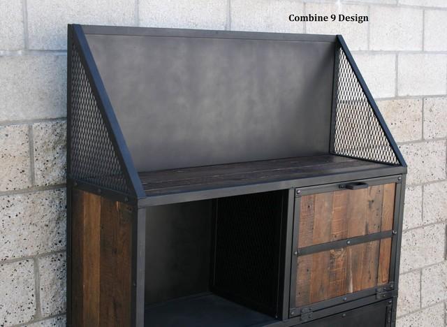 Urban Modern Industrial Bar Cart Vintage Style Steel