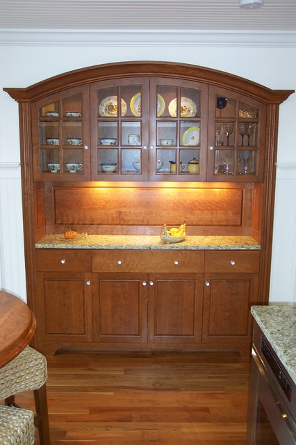 arch top china cabinet - Traditional - China Cabinets And Hutches - Other - by Custom Wood Products