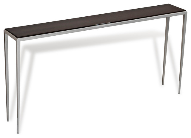 Morell Ebonized Wood Modern Sofa Console Table 35 For Long Side Table
