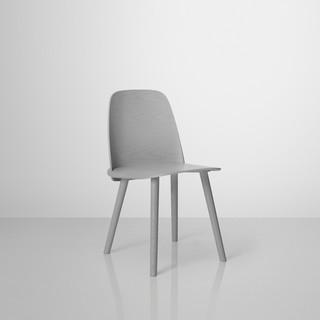 nerd holz stuhl grau muuto skandinavisch wohnzimmerst hle von found4you. Black Bedroom Furniture Sets. Home Design Ideas