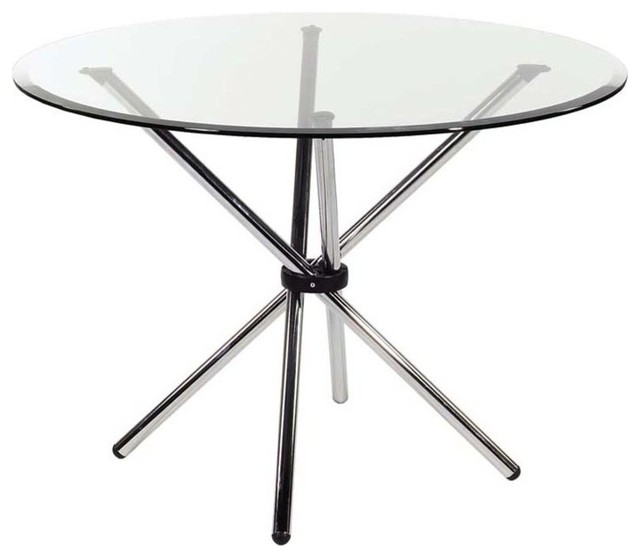 Eurostyle Hydra 42 Inch Round Glass Dining Table W