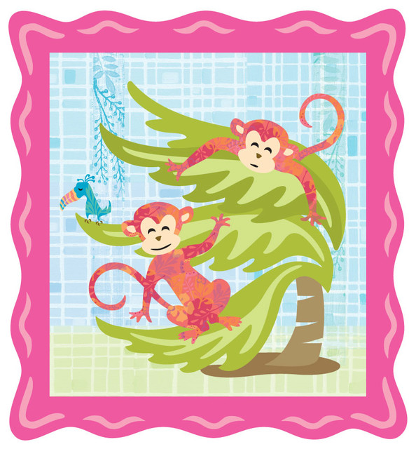tiki tike monkey wall mural contemporary wallpaper monkey biz wall mural contemporary wallpaper