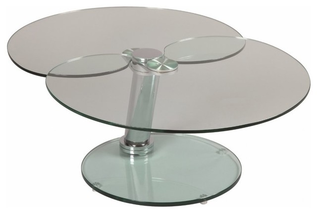 Table basse clover en verre contemporary coffee tables - Tables basses en verre ...
