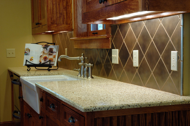 Recycled Glass Contemporary Kitchen Countertops San