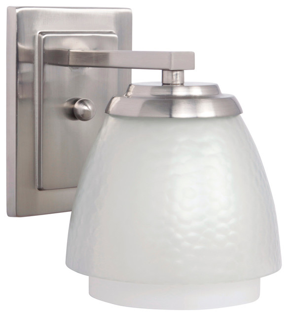 Transitional Bathroom Wall Sconces : Craftmade 14606BNK1 1-Light Wall Sconce - Transitional - Bathroom Vanity Lighting - by Lighting ...