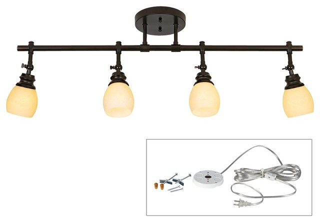 Pro Track Elm Park Four Head Plug In Track Light