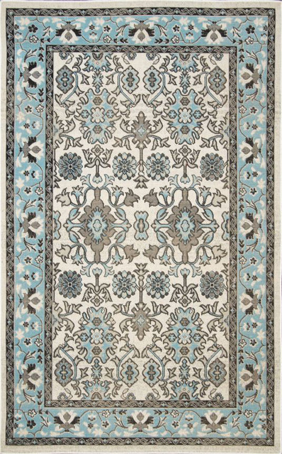 Nuloom Machine Made Eram Garden Jr02 Rug Light Blue 2 x 7 6""