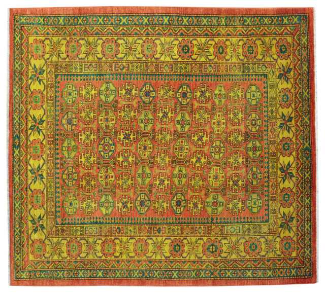100 Wool Persian Area Rug: High Quality Kazak 100% Wool Overdyed Hand Knotted