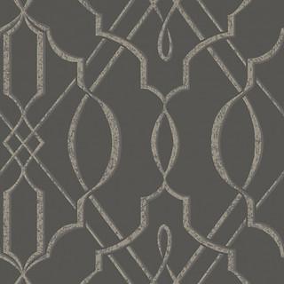Arabesque Design Wallpaper, Gray, Double Roll ...