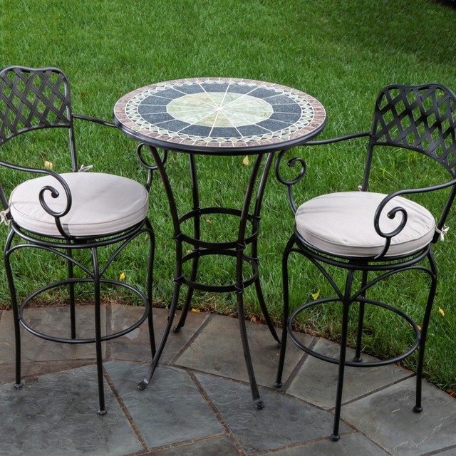 Alfresco Home Ponte Mosaic Bar Bistro Set modern outdoor pub and bistro sets