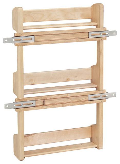 rev a shelf 4sr 21 door mount spice rack wood maple contemporary pantry and cabinet. Black Bedroom Furniture Sets. Home Design Ideas