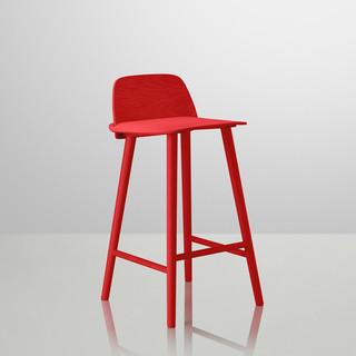 Nerd bar stool barhocker rot muuto bauhaus look for Bauhaus barhocker