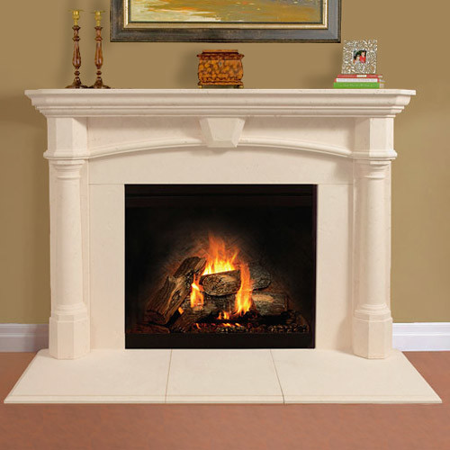 Aspire Stone Fireplace Mantel Traditional Indoor Fireplaces Other By